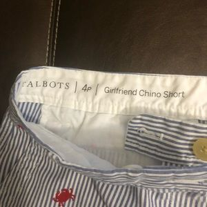 Talbots Shorts - Talbots Girlfriend Chino with Embroidered Crab